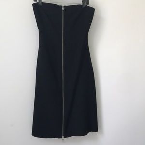 Zara Woman Black Strapless Dress